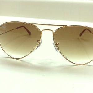 Ray Ban Gold Metal Aviator Sunglasses